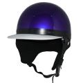 ZK-180 コルク半風半帽(メタリックパープル)耳当て脱着可 SG公認 公道走行可!125cc以下対応 コルク不使用で軽量!