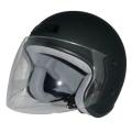 ZK-400 ジェットヘルメット(マットブラック)  SG公認  全排気量対応 UVカット・ハードコートシールド&ベンチレータ