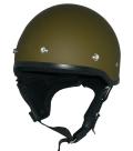 ZK-600 ハーフジェット(マットオリーブグリーン) SG公認 125cc以下対応!耳当て脱着可