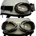 装飾用ビンテージゴーグル(丸型) ヘルメットのアクセントに最適!汎用品他社製品取付けOK!