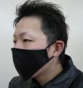 ZK-991 昭和の定番 本革カラスマスク 小型ゴムヒモ ネコポス便 本州四国翌日到着