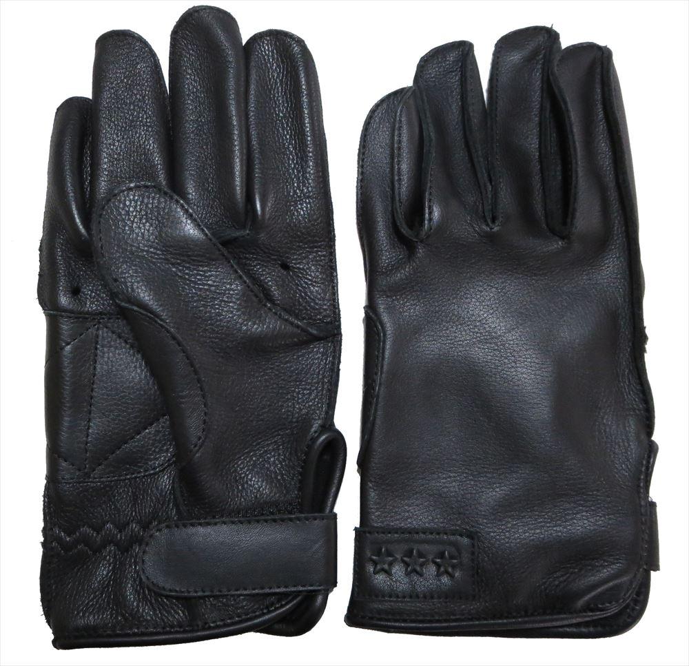 TG-230 本革ツーリンググローブ(ブラック)丈夫で長持ち外縫い 厚手COWレザー使用 ネコポス便発送350円 代引時間指定不可