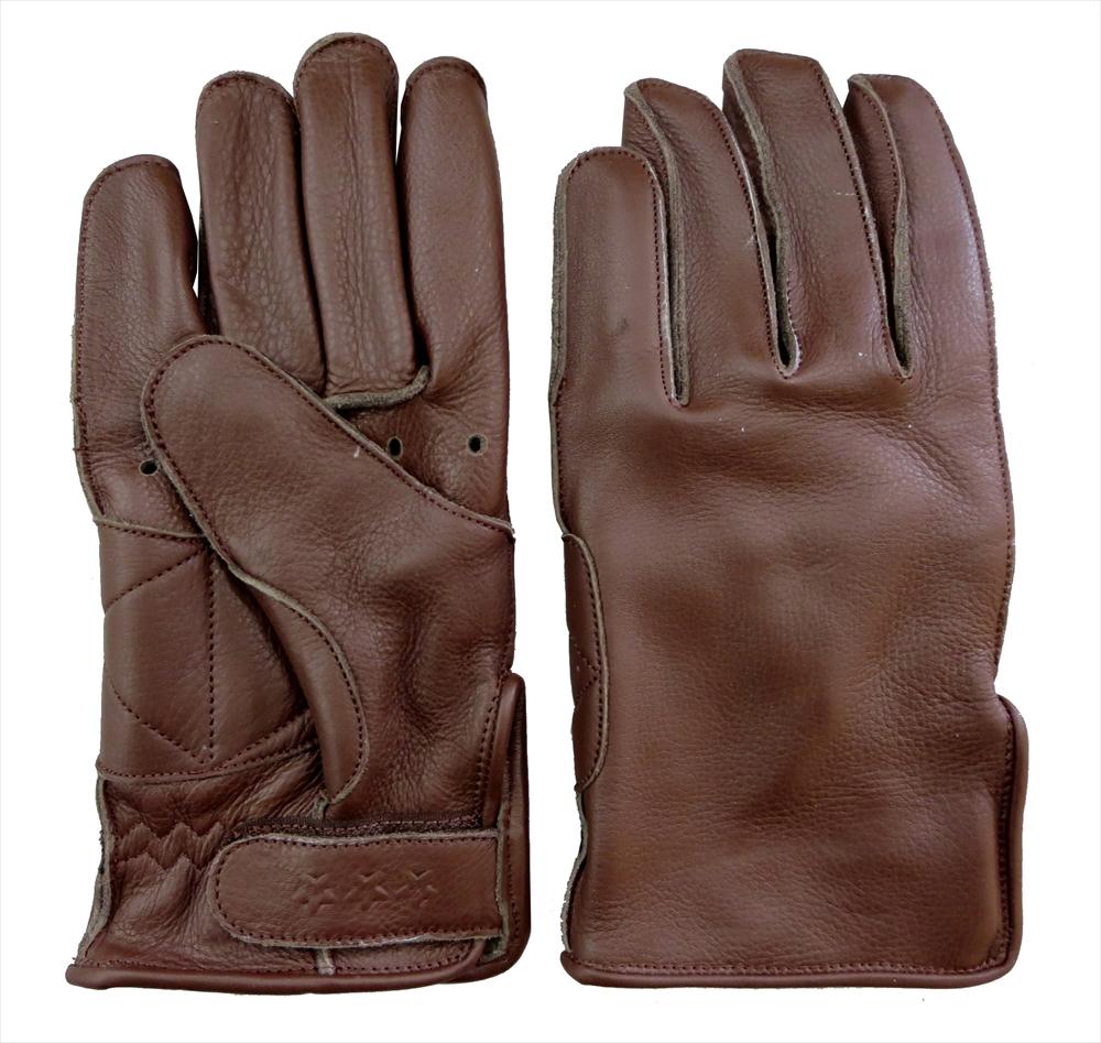 TG-230 本革ツーリンググローブ(ブラウン)丈夫で長持ち外縫い 厚手COWレザー使用 ネコポス便発送350円 代引時間指定不可