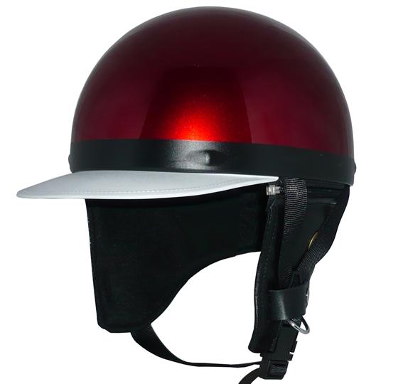 ZK-180 コルク半風半帽(キャンディレッド)耳当て脱着可 SG公認 公道走行可!125cc以下対応 コルク不使用で軽量!