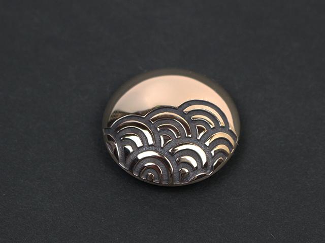 青海波コンチョ/銅 copper