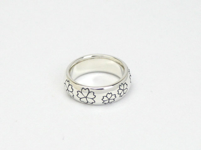 桜モチーフ/桜咲(さくらさく)シルバーピンキーリング