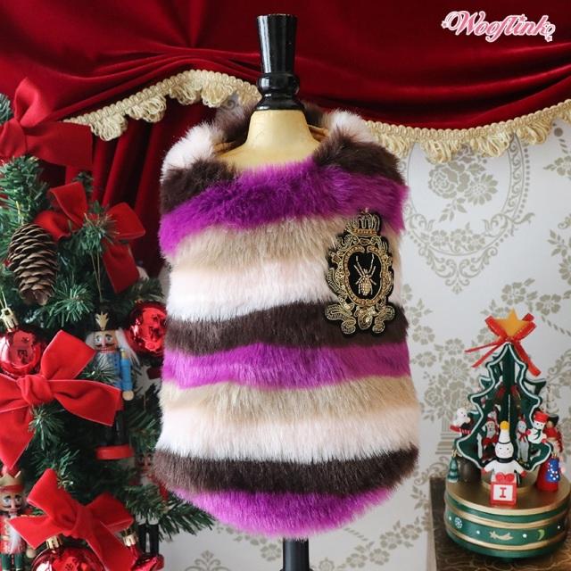 Wooflink Stripe Fur Vest