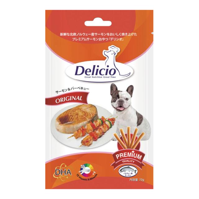 Delicio デリシオ おやつ サプリメント サーモン&バーベキュー 商品画像