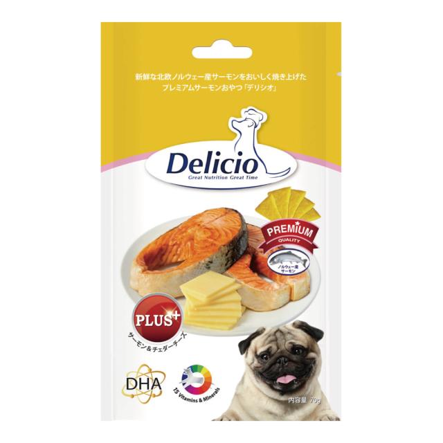 Delicio デリシオ おやつ サプリメント サーモン&チェダーチーズ 商品画像