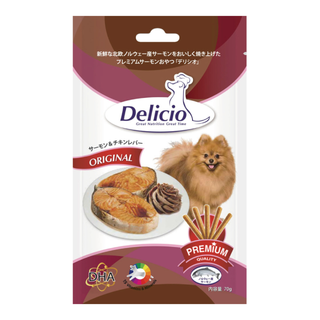 Delicio デリシオ おやつ サプリメント サーモン&チキンレバー 商品画像