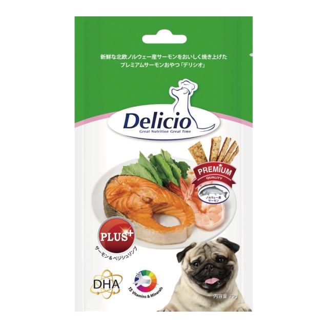 Delicio デリシオ おやつ サプリメント サーモン&べジシュリンプ 商品画像