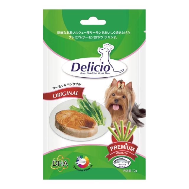 Delicio デリシオ おやつ サプリメント サーモン&ベジタブル 商品画像