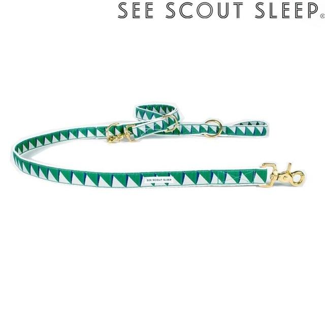 アジャスタブルリード See Scout Sleep / Nice Grill / エメラルド×ネイビー×クリーム