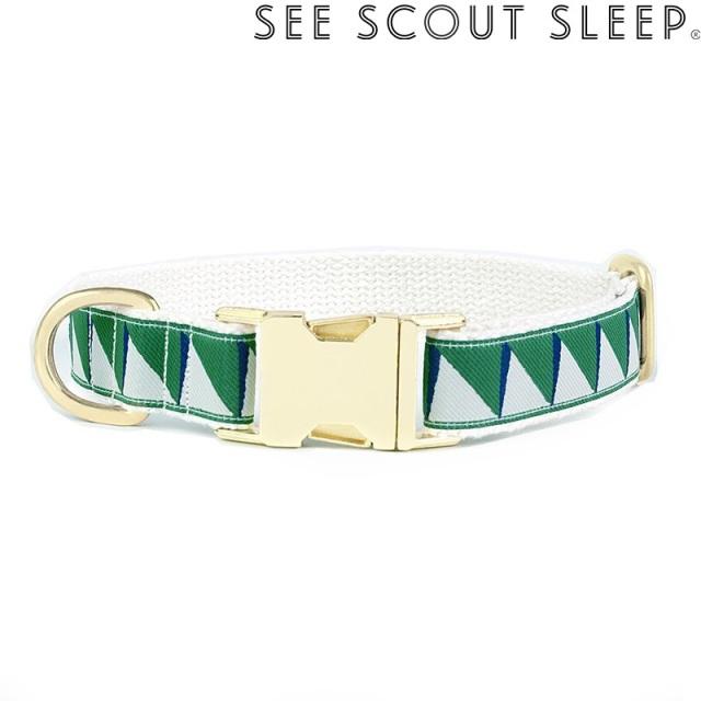 首輪 See Scout Sleep / Nice Grill / エメラルド×ネイビー×クリーム