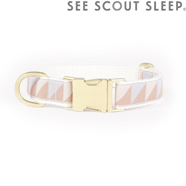 首輪 See Scout Sleep / Nice Grill / アイスブルー×キャメル×アイボリー
