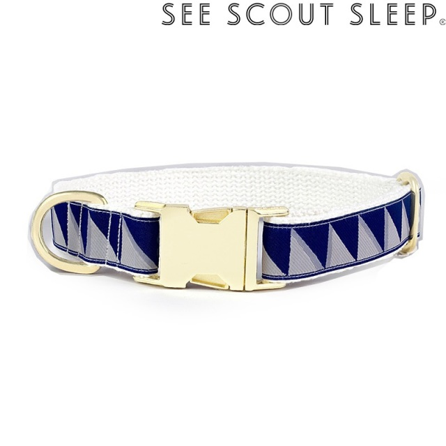 首輪 See Scout Sleep / Nice Grill / ネイビー×クールグレー×クリーム
