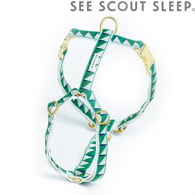 ハーネス See Scout Sleep / Nice Grill / エメラルド×ネイビー×クリーム