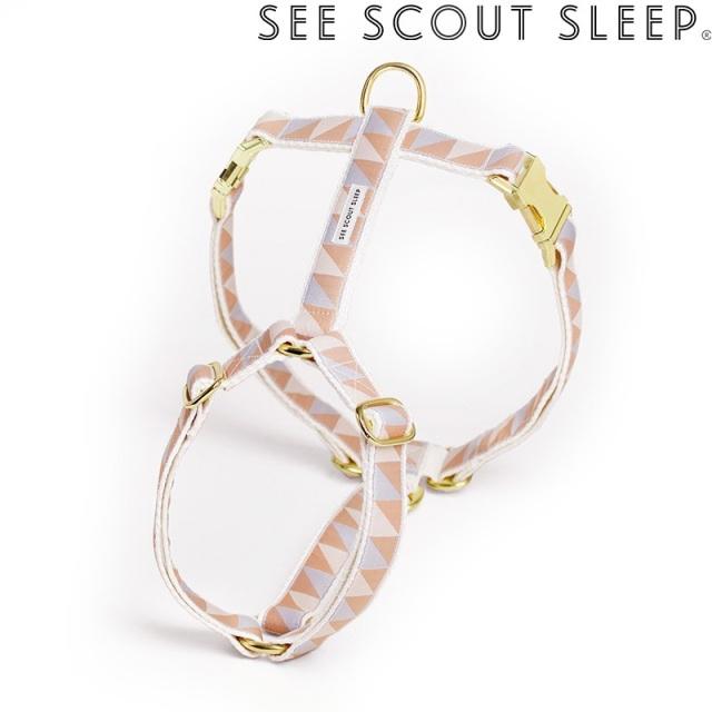 ハーネス See Scout Sleep / Nice Grill / アイスブルー×キャメル×アイボリー