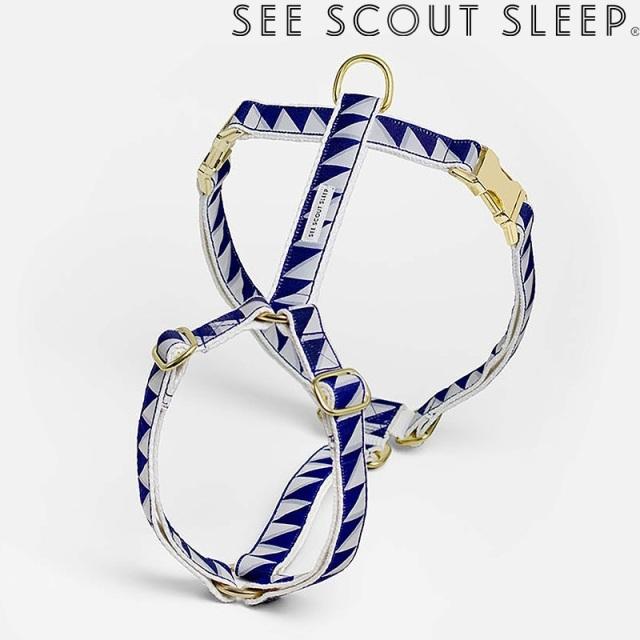 ハーネス See Scout Sleep / Nice Grill / ネイビー×クールグレー×クリーム