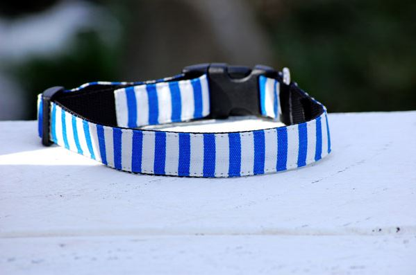 Isabella Cane Stripe 首輪 French Blue