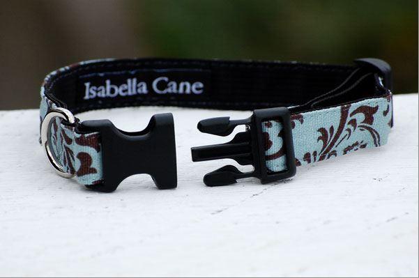 Isabella Cane Treills 首輪 Turquoise and Chocolate②