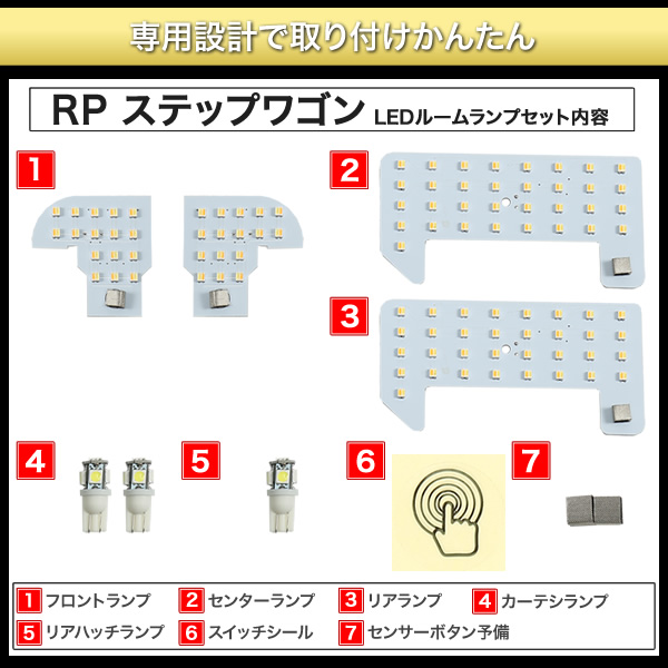 RP1/2/3/4ステップワゴンLEDルームランプ