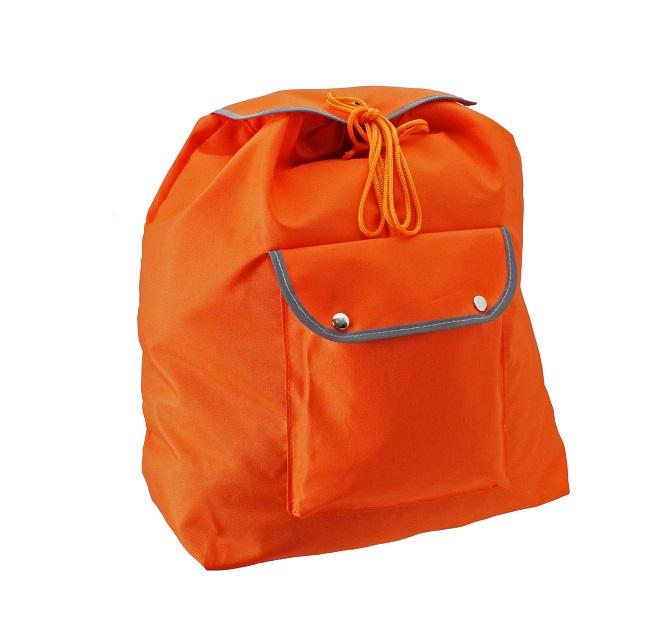 非常持出袋 大容量 反射付 (オレンジ)  非常持ち出し 巾着リュック
