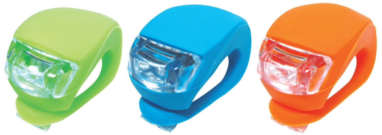 光って安全、光り方 3パターン、LEDシリコンライト 2個セット