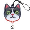 ネコ 反射 鈴付き リフレクター 5個セット ハッピーキャットリフレクター  メール便可
