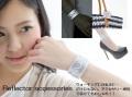 反射材 アクセサリー キラキラ 反射リストバンド 反射 ブレスレット アンクレット 【メール便可】