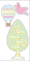 Reflector sticker 【気球】 反射 リフレクター ステッカー シール