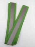 【100本セット】 マジック式 反射タスキ 緑(黄緑) 【送料無料】 642515