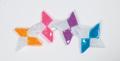 【100セット4色アソート】反射 折り紙 手裏剣 リフレクター キッド【送料無料】