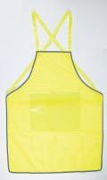 30枚セット パトロール エプロン 差し込み式 反射メッシュ 蛍光黄色