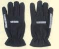 反射 交通安全 ブラック フリース 手袋 リフレクター グローブ
