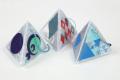 【お得なアソート100セット】反射 折り紙 デザイン 三角すい リフレクター キッド【 交通安全グッズ 】