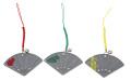 100個アソートセット 高輝度 反射扇子型 鈴付 根付リフレクターストラップ
