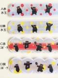 【100本セット】 くまモンの反射リストバンドだモン! リフレクター ワンタッチ リストバンド 【送料無料】