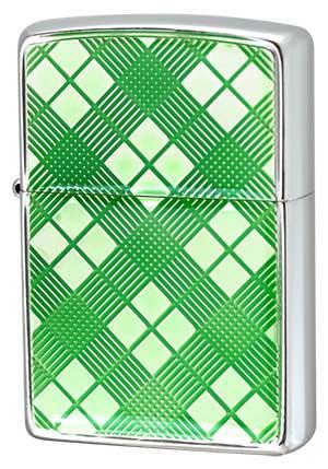 Zippo ジッポー カットカラークリアシリーズ 20CHG-EC チェックグリーン メール便可