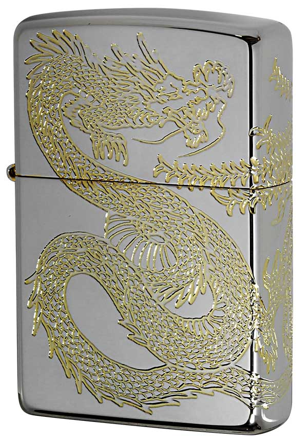 Zippo ジッポー Dragon&Phoenix 龍 鳳凰 20DH3-SG メール便可