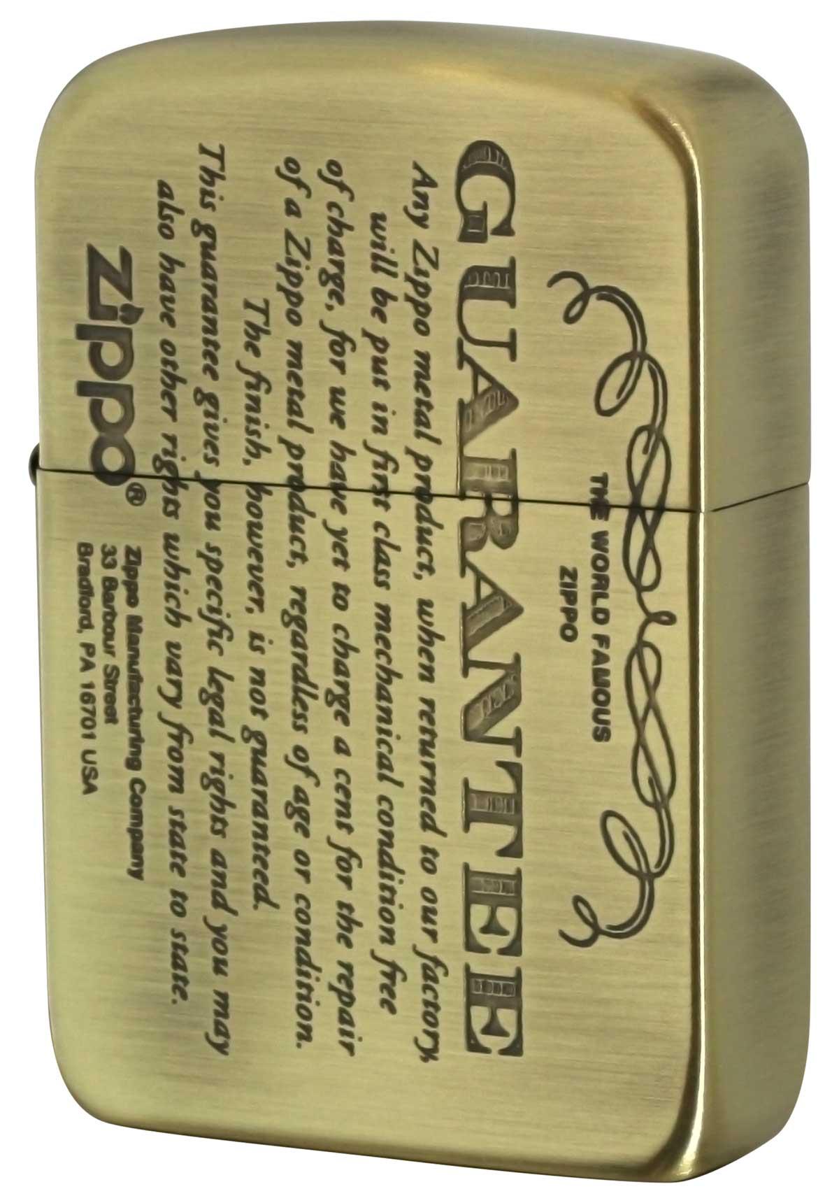 Zippo ジッポー GUARANTEE No.1941 ギャランティー柄 41GRT-BS メール便可