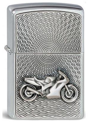 ヨーロッパ直輸入Zippo ジッポー Motor Bike Emblem 2000225 メール便可