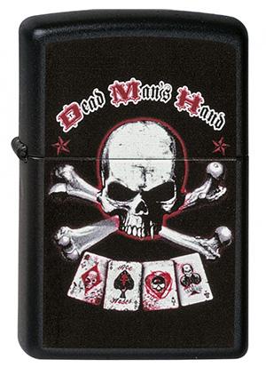 ヨーロッパ直輸入Zippo ジッポー UL13 Dead Mans Hand 2000896 メール便可