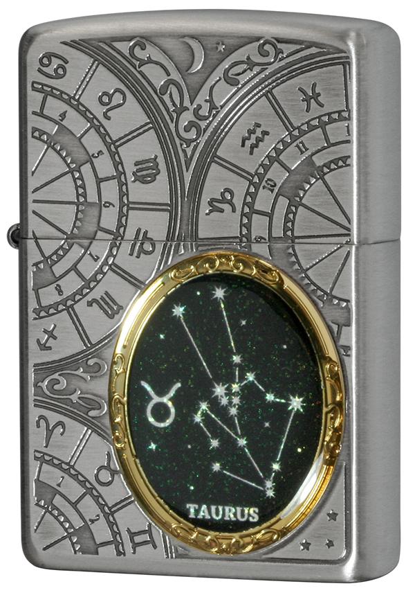Zippo ジッポー 12星座メタル Constellation Metal 牡牛座 1201S521 メール便可