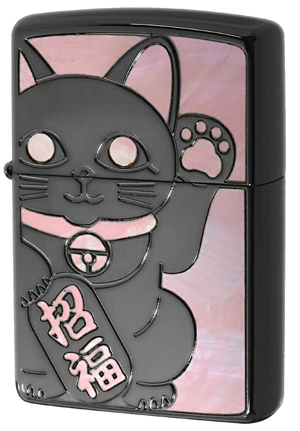 Zippo ジッポー SHELL LUCKY CAT シェル ラッキーキャット 1201S686 BK