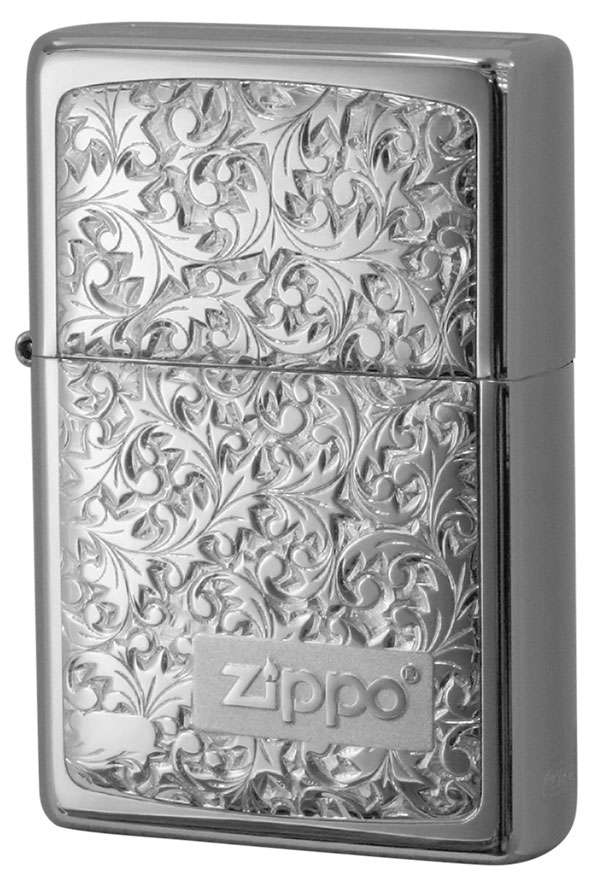 Zippo ジッポー BottomzUp #382 銀チタン #KR-8