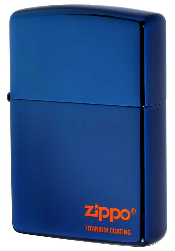 Zippo ジッポー TITANIUM COATING チタニュームコーティング #200 ブルーチタン #ほへと メール便可