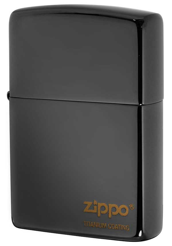 Zippo ジッポー TITANIUM COATING チタニュームコーティング #200 黒チタン #EG メール便可