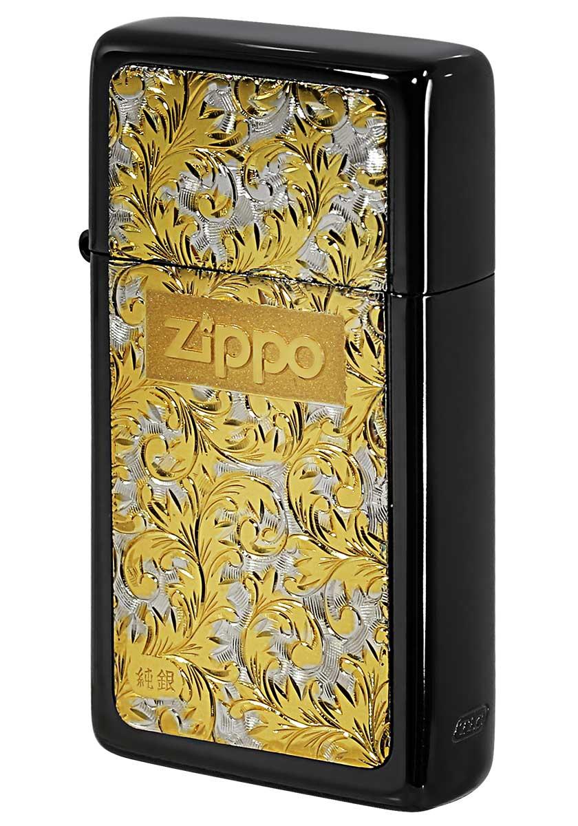 Zippo ジッポー SLIM ARMOR スリムアーマー 黒チタン #K-7 メール便可