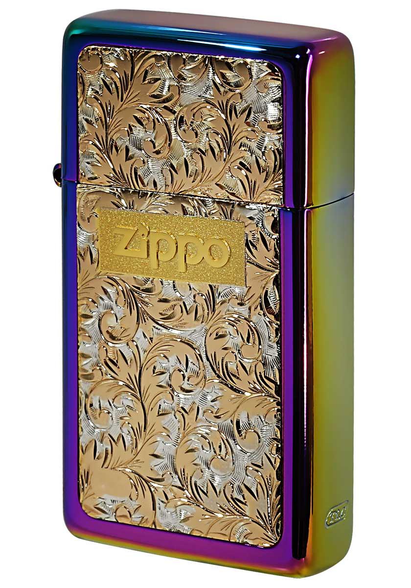 Zippo ジッポー SLIM ARMOR スリムアーマー レインボーチタン #K-7 メール便可